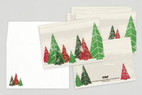 Merry Forest Holiday Greeting Card Template