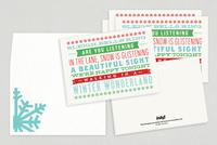 Winter Wonderland Holiday Greeting Card Template