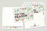 Illustrative Collage Holiday Greeting Card Template