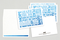 Many Wishes Holiday Greeting Card Template