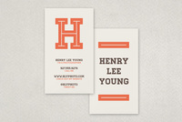 Personal Monogram Business Card Template