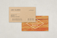 Carpenter's Textured Business Card Template
