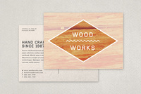 Textured Carpentry Postcard Template