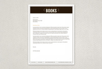 Vintage Bookstore Letterhead Template