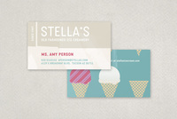 Graphic Ice Creamery Business Card Template