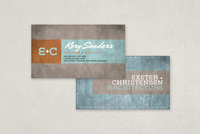 Textured Architecture Firm Business Card Template