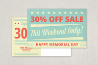 Retro Memorial Day Postcard Template