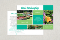 Modern Landscaping Postcard Template