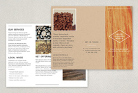 Textured Carpentry Brochure Template