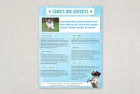 Pet Services Datasheet Template