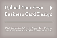 Upload and Print Your Own Plastic Business Card Design