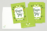 Peace Holiday Greeting Card Template