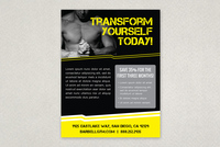 Edgy Sports Fitness Flyer Template