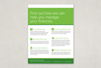 Financial Planning Services Flyer Template