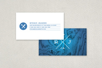 Hipster Badge Business Card Template