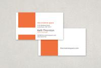 Flat Modern Business Card Template
