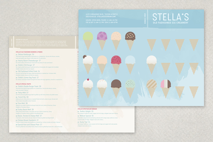 Graphic Ice Creamery Menu Template