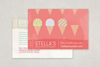 Graphic Ice Creamery Postcard Template