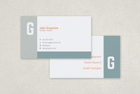 Flat Modern Business Card Template