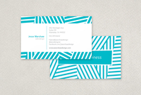 Fun Stripes Business Card Template