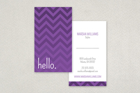 Monotone Zigzag Business Card Template