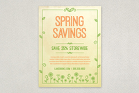 Spring Illustration Flyer Design Template