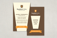 Retro Coffee Business Card Template