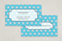 Polka Dot Business Card Template