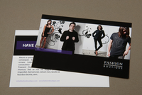 Fashion Boutique Postcard Template