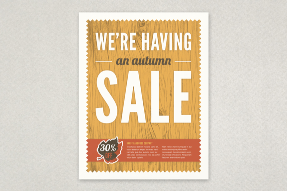 autumn sale flyer template inkd