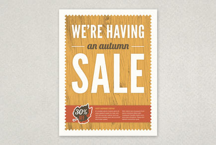 Autumn Sale Flyer Template | Inkd