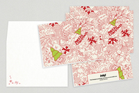 Christmas Doodles Holiday Greeting Card Template