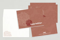 Fancy Bows Holiday Greeting Card Template