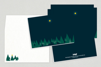 Peaceful Forest Holiday Greeting Card Template