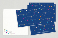 Light Strings Holiday Greeting Card Template