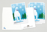 Abominable Snowman Holiday Greeting Card Template