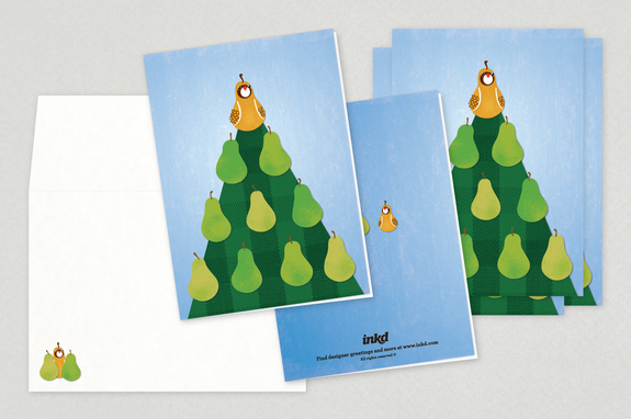 Partridge pear tree holiday greeting card template inkd partridge pear tree holiday greeting card template m4hsunfo