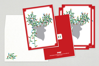 Reindeer Lights Holiday Greeting Card Template