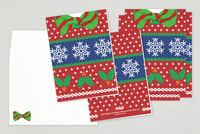 Festive Sweater Holiday Greeting Card Template