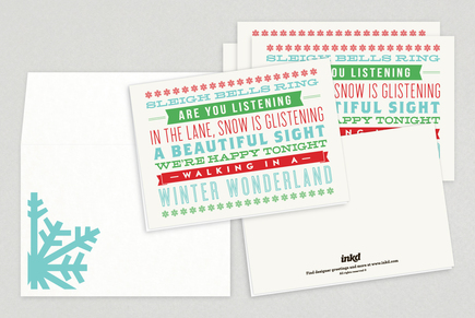 Winter Wonderland Holiday Greeting Card Template
