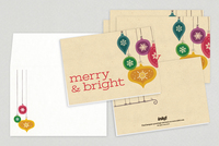 Vibrant Ornaments Holiday Greeting Card Template