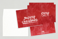 Christmas Calligraphy Holiday Greeting Card Template