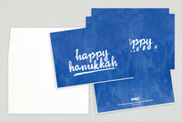 Hanukkah Calligraphy Holiday Greeting Card Template