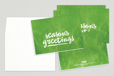 Season's Greetings Holiday Greeting Card Template