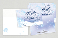 Winter Wishes Holiday Greeting Card Template