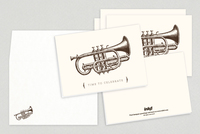 Seasonal Cornet Holiday Greeting Card Template