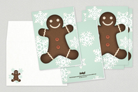 Gingerbread Man Holiday Greeting Card Template