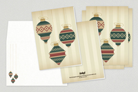 Classic Ornaments Holiday Greeting Card Template