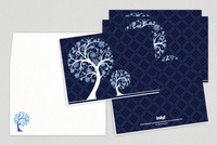 Peaceful Trees Holiday Greeting Card Template