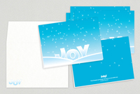 Snowy Joy Holiday Greeting Card Template